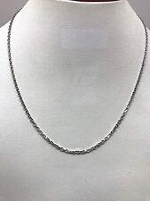 Chaine en or blanc 18 carats , 42 cm maille forçat , 3,2 grammes
