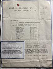 Original Australia Qantas Empire Circular Letter Coronation Covers & Air letters