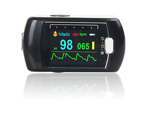 Rechargeable Fingertip Pulse Oximeter 24h SpO2 Blood Oxygen & Heart Rate Monitor