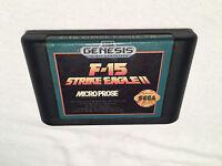 F-15 Strike Eagle II (Sega Genesis, 1993) Game Cartridge Excellent