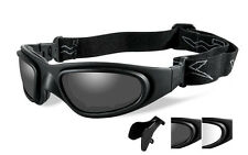 Wiley X SG-1 Grey/Clear Lens Matte Black Frame Asian Fit Sport Shooting Glasses