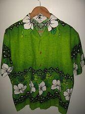 Barkcloth Aloha Shirt Xl - 1960's The Broadway Men's Sportswear Japan Hawaiian