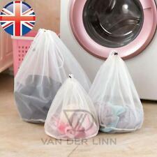 *UK Seller* PREMIUM QUALITY DRAWSTRING LAUNDRY NET BAG Wash Mesh Bra Reusable