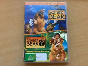 Brother Bear 1 & 2 The Moose Are On The Loose Joaquin Phoenix (DVD 2-Disc) R4 GC