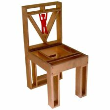 20th Century Artist Ronn Jaffe's Prototype Wood  Minimalist P Man Chair