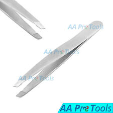 Salon Eyebrow Tweezer Stainless Steel SLANT CHISEL Tip