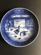 "Royal Copenhagen Denmark ""In the Old Farmyard"" 1969 Christmas Plate"