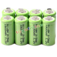 8x Ni-mh 1.2 v 2/3aa 1800mah batería Recargable Ni-mh Pilas Para Teléfono De Juguete