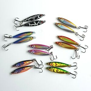 Mackerel spinners pike bass lures choice of 7 colors 30g each sea fishing tackle
