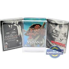1 x DVD Steelbook & Slip Cover Box Protectors Strong 0.4mm Plastic Display Case