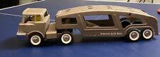Vintage Structo Auto Haul Tractor Trailer Truck - Tan