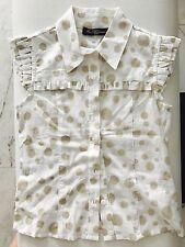 Miss Blumarine Designer Kids Girls Sleeveless Shirt Best Blouse Top Sz6