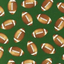 "Kaufmann Sports Life ~ Tossed Footballs 100% Cotton Fabric  BTY 44"" wide"