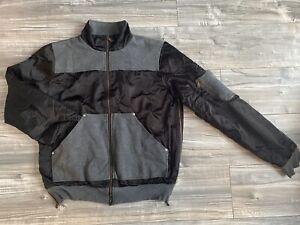Men's D&G Bomber Jacket Size L Black Grey Dolce & Gabbana