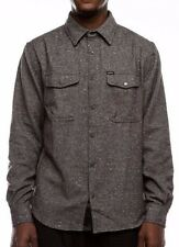 Matix MENDOCINO Mens Snap Front Flannel Overshirt Medium Ash Grey NEW