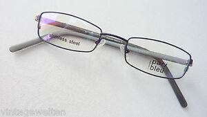 Par Bleu Brillenfassung schmale Lesebrille unempfindlich stabil blau Grösse S