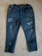 Girls Zara BabyGirl Wonder Woman Jeans Size 18-24 Months