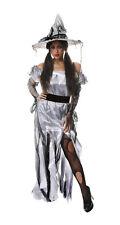 Zombie Princess / Silver Witch Womens Halloween Fancy Dress Costume Size 10-14