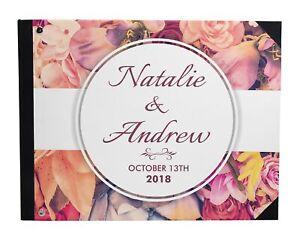 Darling Souvenir Multicolor Floral Wedding Guestbook Hardbound Cover-ujR