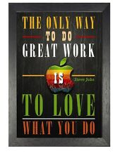 Steve Jobs 2 Motivation Inspiration Quote Poster Apple Company Photo Work Love