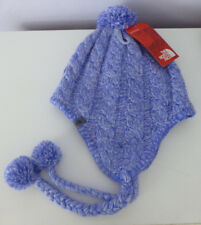 THE NORTH FACE Women's Beanie Hat Fuzzy Earflap Pompom Lined One Size New
