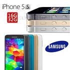 Apple iPhone 5C 5S 6 16GB 32GB 64GB Smartphone Factory Unlocked Grade A+++