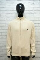 LACOSTE Maglione Uomo Pullover Taglia 8 2XL Sweater Cardigan Lana Maglia Felpa