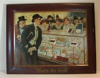 RARE 1910 NOBILITY CHOCOLATE CANDY TIN LITHO SELF FRAMED ADVERTISING SIGN 28x22