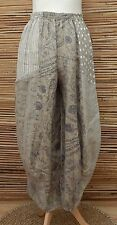 LAGENLOOK LINEN OVERSIZED QUIRKY BALLOON HAREM TROUSERS/PANTS***BEIGE***L-XL-XXL