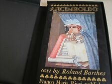 "Rare publication  ""Arcimboldo""  by Roland Barthes Milano publisher"