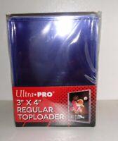 25 Ultra Pro 100pt 3x4 Toploaders Toploader top loaders loader Thick Jersey new