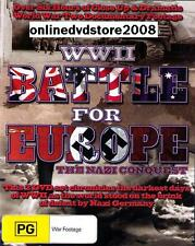 WWII WORLD WAR II BATTLE for EUROPE HITLER Invasion Nazi Conquest (2DVD SET) NEW
