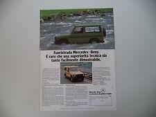 advertising Pubblicità 1980 FUORISTRADA MERCEDES BENZ 240 GD
