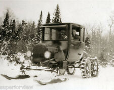 Ford Model T Ski Car Ford Model T Automobile On Skis Snow Shovel Snow Tires WOW