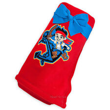 Disney Store Exclusive Jake and Neverland Pirates RED Fleece Throw Blanket 60x50
