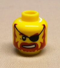 Orange Scales on Front /& Back LEGO Minifig Red Head Yellow Eyes