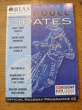 31/03/2004 SPEEDWAY programma: Poole Pirati V ARENA Essex Martelli. l'oggetto in molto