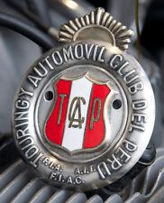 ENAMEL PERUVIAN CAR CLUB BADGE AUTOMOBILE # TOURINGY AUTOMOVIL CLUB DEL PERU