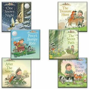 Percy the Park Keeper 6 Books Collection Set by Nick Butterworth (Snowy & more)