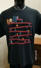 Vintage Donkey Kong Nintendo Video Game Black T-Shirt Sz XL.