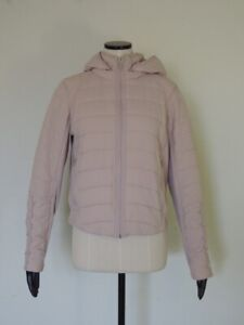 Lululemon Push Your Pace Jacket Porcelain Pink Water Repellent Running Size 10