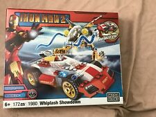 MEGA BLOKS 2010 IRON MAN 2 WHIPLASH SHOWDOWN Retired Set New Sealed!