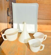 5 Used Plastic Tray Funnel Measuring Cups Film Photo Picture Developing Darkroom