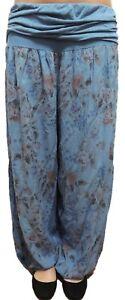 Damen Haremshose Größe 44 46 48 50 52 54 Übergröße Pumphose Sommerhose Rose 45