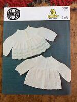Baby knitting patterns.cardigans.size 12-18 inch chest.3 ply.Sirdar.boy/girl.