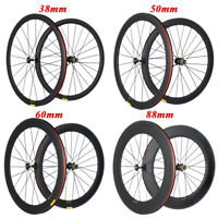 700C Full Carbon Wheelset 38/50/60/88mm Road Bicycle Clincher/Tubeless U Wheels