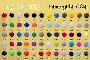 50 Set Size 20 T5 KAM Plastic Resin Press Studs Snap button AU 60 colours