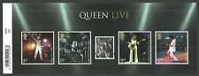 GB 2020 PRE ISSUE QUEEN LIVE FREDDIE MERCURY BRIAN MAY POP ROCK M/SHEET MNH