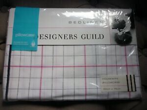 "DESIGNERS GUILD ""TARU"" HOUSEWIFE PILLOWCASE FUCHSIA  NEW"