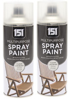 2 x Multipurpose Clear Lacquer Spray 400ml Paint Aerosol Can Car Wall Metal Wood